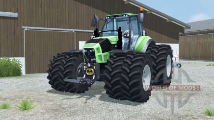 Deutz-Fahr 7250 TTV Agrotron dual wheels for Farming Simulator 2013