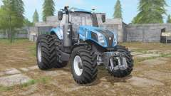 New Holland T8-series with dual wheel for Farming Simulator 2017