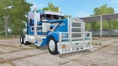 Kenworth W900L ocean boat blue for Farming Simulator 2017