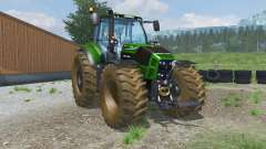 Deutz-Fahr 7250 TTV Agrotron dirt texture for Farming Simulator 2013