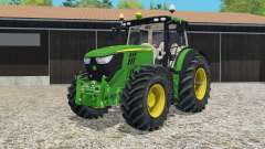 John Deere 6R-series twin wheels for Farming Simulator 2015