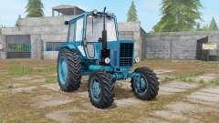 MTZ-82 Belarus in the blue color for Farming Simulator 2017