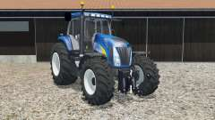 New Holland T8020 science blue for Farming Simulator 2015
