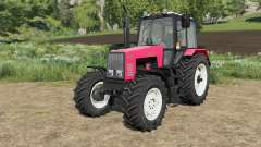 MTZ-1221 Belarus with the selection of wheels for Farming Simulator 2017