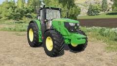 John Deere 6M-series changes wheels for Farming Simulator 2017