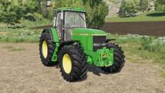 John Deere 7010 various wheel configurations for Farming Simulator 2017
