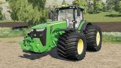 John Deere 8R-series wide tire options for Farming Simulator 2017