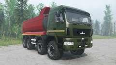 MAZ-6516В9 green color for MudRunner