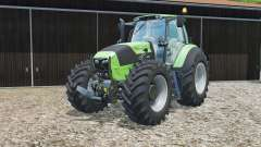 Deutz-Fahr 7250 TTV grown-end loader console for Farming Simulator 2015