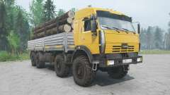 KamAZ-6350 yellow color for MudRunner