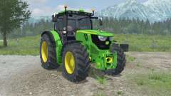 John Deere 6150R full hydraulics animation for Farming Simulator 2013