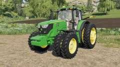 John Deere 6M-series 8 wheels configurations for Farming Simulator 2017