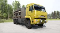 KamAZ-65225 bright yellow for MudRunner