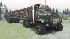 KrAZ-255 dark grayish-green for Spin Tires