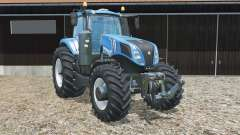 New Holland T8.320 new rear wheels for Farming Simulator 2015