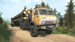 KamAZ-4310 yellow color for MudRunner