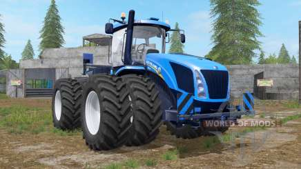New Holland T9 multicolor with drilling tires for Farming Simulator 2017
