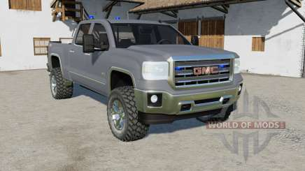 GMC Sierra 2500 HD Crew Cab with Police Strobes for Farming Simulator 2017