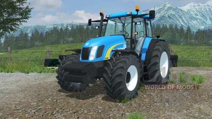 New Holland TL100A vivid cerulean for Farming Simulator 2013