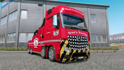 Mercedes-Benz Actros (MP4) Tow Truck v1.7 for Euro Truck Simulator 2