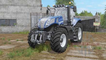 New Holland T8-series with additional light for Farming Simulator 2017