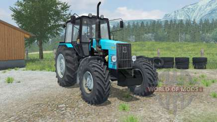 MTZ-Belarus 1221В with a loader Laumetris for Farming Simulator 2013