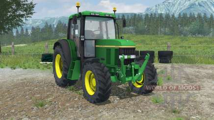 John Deere 6100 with weight for Farming Simulator 2013