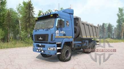 MAZ-6514H9 blue color for MudRunner