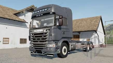 Scania R730 Hooklift selectable wheels for Farming Simulator 2017