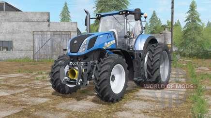 New Holland T7-series added narrow twin wheels for Farming Simulator 2017