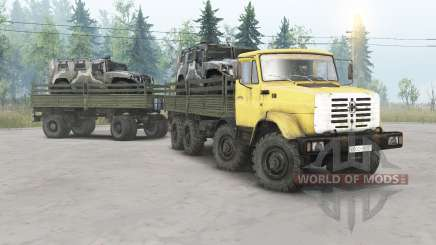 ZIL-133ГМ 8x8 for Spin Tires