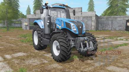 New Holland T8.435 with power options for Farming Simulator 2017