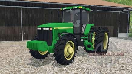 John Deere 8400 dual rear wheels for Farming Simulator 2015