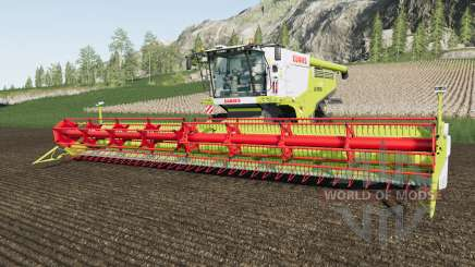 Claas Lexion 700 added warning sings with lights for Farming Simulator 2017