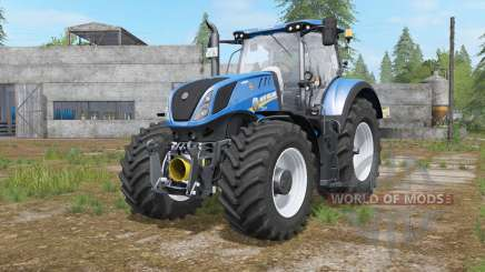 New Holland T7-series interactive control for Farming Simulator 2017