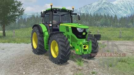 John Deere 6150R full hydraulics animation for Farming Simulator 2013