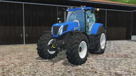 New Holland T7.270 true blue for Farming Simulator 2015