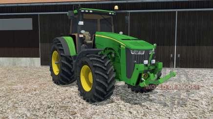 John Deere 8370R animated steering for Farming Simulator 2015