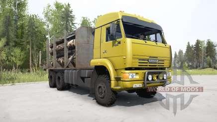 KamAZ-65225 bright yellow for MudRunner