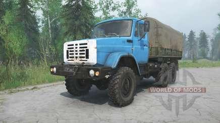 ZIL-4334 blue color for MudRunner