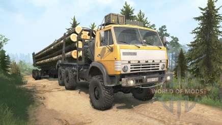 KamAZ-4310 yellow color for MudRunner