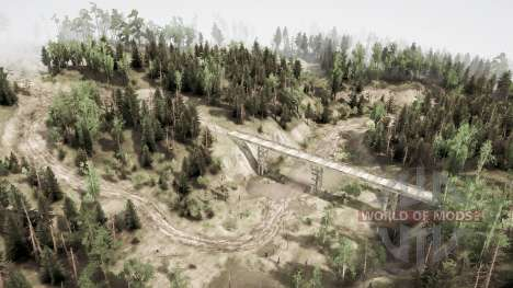 Valley of the volcano for Spintires MudRunner