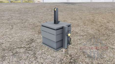 Front weight 900 kg. for Farming Simulator 2013