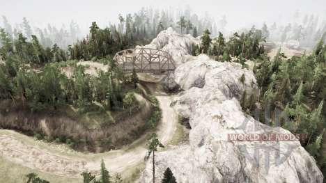 The path of the truck for Spintires MudRunner