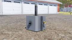 Front weight 1500 kg. for Farming Simulator 2013