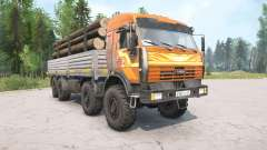 KamAZ-6350 orange color for MudRunner