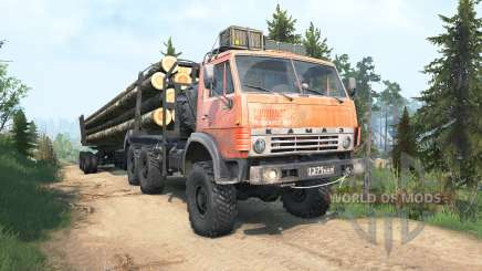 KamAZ-4310 rusty red color for MudRunner