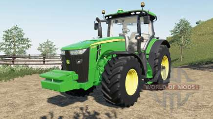 John Deere 8R new steering console and seat for Farming Simulator 2017