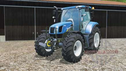 New Holland T6.160 replaceable tires for Farming Simulator 2015