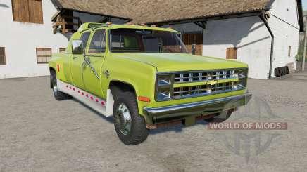 Chevrolet K30 Silverado Crew Cab Dually 1986 for Farming Simulator 2017
